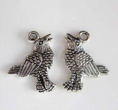 20Pcs-Alloy-Metal-Happy-Bird-Beads-Finding-Jewelry-Accessory