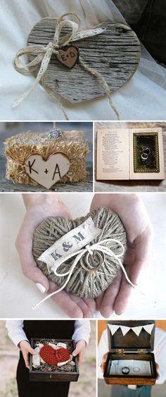 Ideas originales para llevar anillos y arras