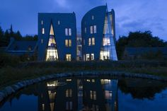 Corrour Lodge, on the banks of Loch Ossian in Scotland, designed by architect Moshe Safdie.