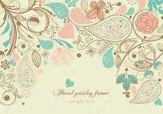 9261870-Floral-paisley-frame-Stock-Vector-background.jpg (1300×915)