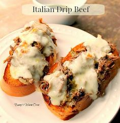 Pioneer Woman's Italian Drip Beef....A delicious Italian Drip Beef made in the crock pot. Put the ingredients in your crock pot and 5 or 6 hours later reap the reward of having an incredible dinner!