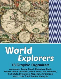 Explorers Set of 18 Graphic Organizers - World Explorers.  A set of graphic organizers that cover many of the world's most accomplished explorers. A great way for students to research and organize information.
