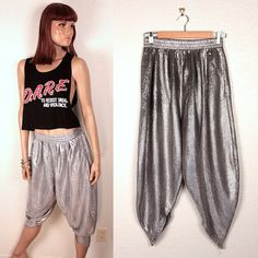 vintage harem pants // metallic silver by BexVintage on Etsy, $42.00
