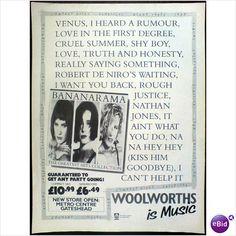 Bananarama. Advert Greatest Hits Collection black & white advert Record Mirror