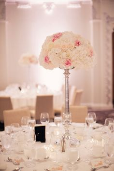 Pink and Cream Reception Decor | photography by http://melissagidneyphoto.com