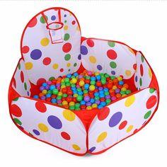 Pop up Hexagon Polka Dot Dzieci Ball Zagraj Basen Namiot Convinent dla Dzieci Bawiących Się Wewnątrz Carry Tote Zabawki dla Dzieci Do Przechowywania w Domu torba