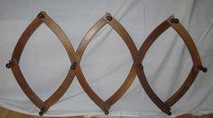 Primitive Accordion Wood Wall Coat Hat Hanger Rack by GingerNIrie, 30