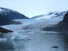 Mendenhall Glacier near Juneau, Alaska. If I could picture what heaven looks like...it would be Alaska!