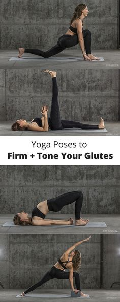 Yoga teacher Leslie Howard recommends this sequence to firm and tone glutes for a strong, balanced backside. Yoga Flow, Funny Yoga Pictures, Namaste, Fitness Del Yoga, Women's Fitness, Photography Tattoo, Reiki, Leslie Howard, Basic Yoga