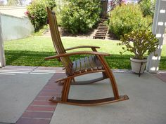 Wine Barrel Rocking Chair by TCBarrelWorks on Etsy, $1250.00