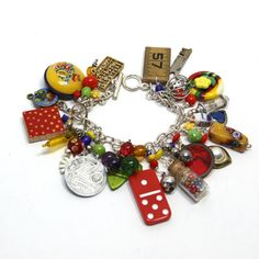 Junk Bracelet - I think I want to make this; would be fun to do in all one color, or maybe two