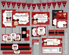 Tsum Tsum Disney Digital Birthday Party Invitations by rbcreation