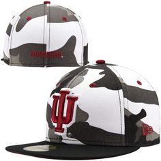 c106e2526c7 New Era Indiana Hoosiers Urban Camo 59FIFTY Fitted Hat - Black White