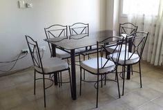 juego de comedor con seis sillas, caño y hierro artesanales   Córdoba   alaMaula   124027850