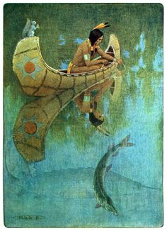 The story of Hiawatha, adapted from H. W. Longfellow by Winston Stokes, New York, 1910.