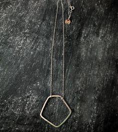 Silver Pentagon Necklace by Moulton on Scoutmob Shoppe