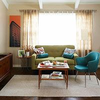 Small Space Sofas - article on using loveseats/settees in small spaces