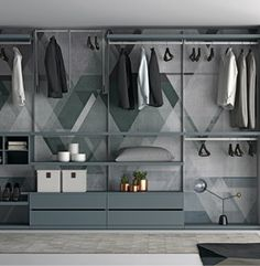 Dressing d 39 angle dress satarossa design d coration chambre coucher - Dressing ouvert ikea ...