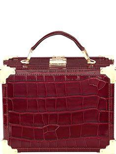 ASPINAL OF LONDON Trunk mock-croc leather clutch bag