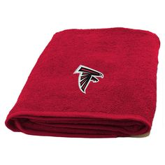 NFL Falcons Bath Towel 25 X 50 Inches Football Themed Applique Shower Towel Sports Patterned Team Logo Fan Merchandise Athletic Spirit Black Red White Atlanta Falcons Team, National Football League, Kansas City Chiefs, Nfl Football, Beach Towel, Applique, Team Logo, Products, Cotton