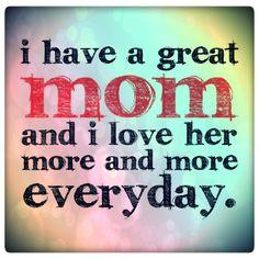 I #love my #mom : )