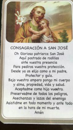 San Jose, Catholic Prayers In Spanish, Spiritual Prayers, Strong Faith, Morning Prayers, Pope Francis, Mother Mary, Holy Spirit, Spirituality