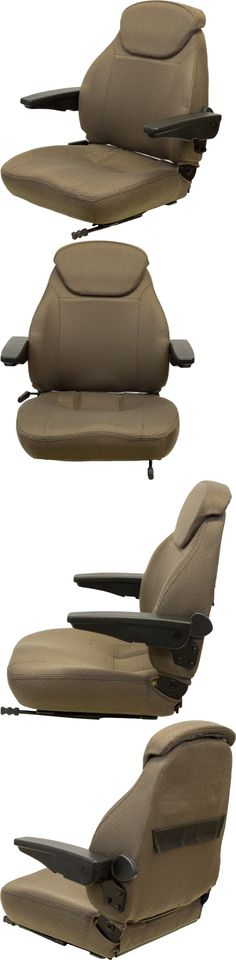 heavy equipment: Brown Fabric Universal Tractor Seat - Fits Case Ih, John Deere, Ford New Holland BUY IT NOW ONLY: $289.0
