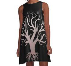 'Tree of life tree life' A-Line Dress by Luigishirts - Nägel Babyboomer Tree Of Life, Graphic Tank, Line, Tank Tops, Dresses, Fashion, Special People, Wisdom, Healing