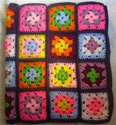 Colorful Granny Square Baby Afghan - Media - Crochet Me
