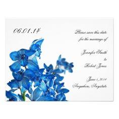 cobalt blue bridal invitations   Wedding Invitations
