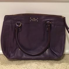 Kate Spade Shoulder Bag Purple KS shoulder bag. A previous Posh purchase. Carried a couple times. In very good condition. No signs of wear or fading. kate spade Bags Shoulder Bags