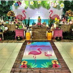 Aloha Party, Luau Party, Flamingo Party, Flamingo Birthday, Flamingo Rosa, Summer Party Decorations, Birthday Decorations, Party Themes, Kids Luau Parties