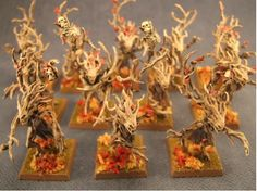 Purdy Dryads with an autumnal feel.