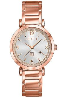 JETTE-Time-Damen-Armbanduhr-Analog-Quarz-One-Size-silber-ros