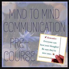 Mind to Mind Communication Ƹ̵̡Ӝ̵̨̄Ʒ