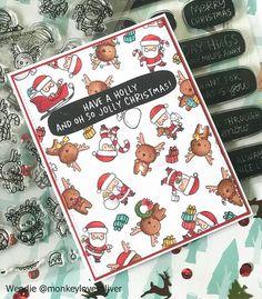 Little Santa Agenda and Little Reindeer Agenda / Mama Elephant – Christmas – Noel 2020 ideas Merry Christmas Card, Xmas Cards, Christmas Fun, Holiday Cards, Mama Elephant Stamps, Santa And Reindeer, Reindeer Games, Cricut Cards, Cool Cards