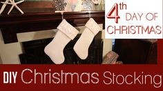 DIY Felt Monogrammed Stockings | 4th Day of 25 Days of Christmas!