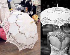 Special Offer Ivory Battenburg Lace Vintage Umbrella Parasol For Bridal Bridesmaid Wedding