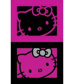 """Sanrio Hello Kitty 48"""" 2 Sided Face No Sew Fleece Throw"""