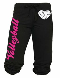 Amazon.com: Volleyball Capri with Heart Shaped Volleyball Juniors Sizing S-L: Clothing