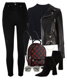 """Untitled #2656"" by camila-echi ❤ liked on Polyvore featuring River Island, Yves Saint Laurent, Pura López and Karen Walker"