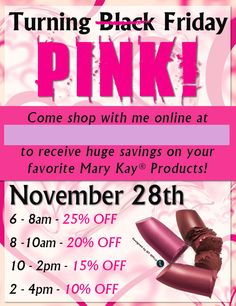 Mary Kay® Pink Friday Sale!!  www.blog.qtoffice.com/mary-kay-pink-friday-sale-idea/