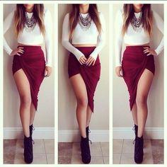 Berry Purple Ruched Twist Draped Asymmetric Stretch High Low Mini Maxi Skirt NWT #365Chic #Asymmetrical