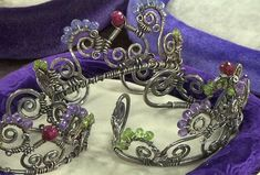 Princess, Queen, or Wonder Woman? Make a Wire Crown Cuff and Find Out!  - Jewelry Making Daily - Janice Berkebile's wire and gemstone crown cuffs and tiaras