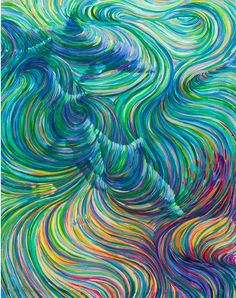 3 Dolphins Healing Energy Painting by EnergyArtistJulia on Etsy, $48.00
