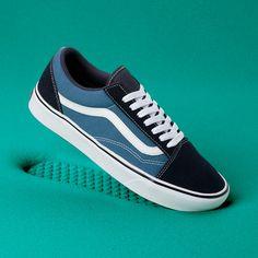1945d4a454f ComfyCush Old Skool Schoenen | Blauw | Vans Skate Schoenen, Damesschoenen  Sandalen, Veganistische Schoenen