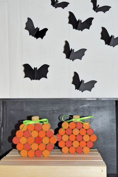 - Hand painted wine corks shaped into a pumpkin with a natural cork stem and thin green ribbon as leaves. - This cork pumpkin is perfect for all you wine loving / cork craft lovers like myself! Cute a