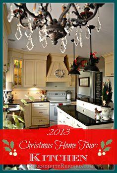 Serendipity Refined Christmas Home Tour 2013: French Farmhouse Kitchen