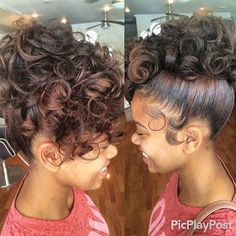STYLIST FEATURE| Love this curly #updo done by #PhillyStylist Jenn at @Salonjmoirai❤️ Perfect for prom or a wedding#VoiceOfHair ========================= Go To: www.VoiceOfHair.com =========================  Free eBook on Hairstyles for All Women #weddinghairstylesforblackwomen #homecominghairstyles