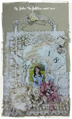 """Vintage Shabby """"Doily and Lace"""" collage with tutorial on my blog, Just click the image!"""